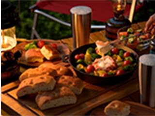 ベーコン巻きカマンベールのチーズフォンデュ×超熟フォカッチャ