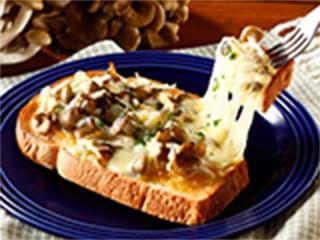 味噌きのこのチーズトースト