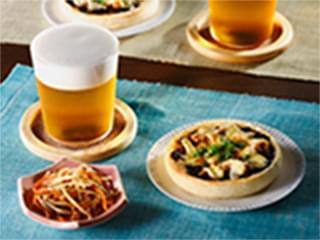 海苔佃煮の和風マフィンピザトースト